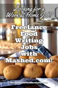 freelance food writing job with Mashed