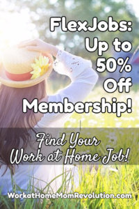FlexJobs Work at Home Jobs