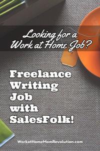 freelance writing job with SalesFolk