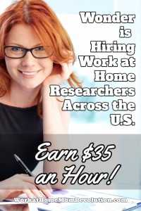 wonder work at home jobs