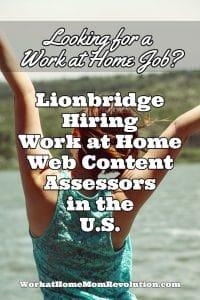 Lionbridge Work at Home Jobs