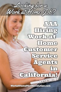 Work at Home: AAA Hiring Customer Service in California