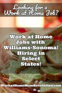 Home-Based Seasonal Customer Support Jobs with Williams-Sonoma