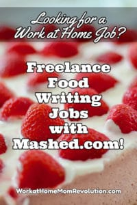Freelance food writing jobs with Mashed