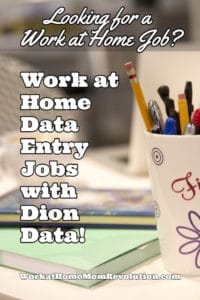 Work at Home Data Entry Jobs with Dion Data: Hiring Nationwide