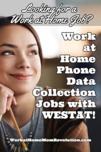 work at home phone jobs with WESTAT