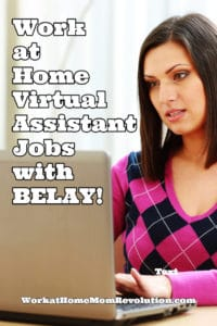 work at home virtual assistant jobs with BELAY
