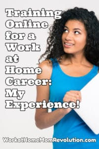 training online for a work at home career with Career Step