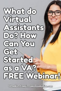 free virtual assistant webinar with Gina Horkey