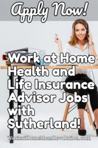 work at home health and life insurance advisor jobs with Sutherland
