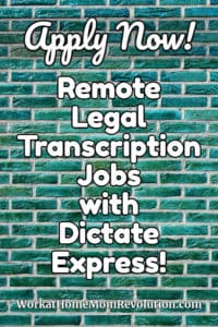 remote legal transcription jobs with dictate express