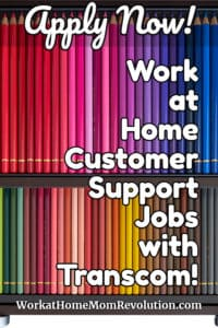 work at home customer support jobs with Transcom