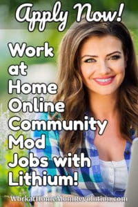 work at home online community mod jobs with Lithium
