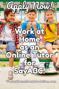 work at home online tutor jobs with SayABC