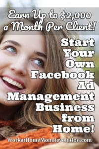 facebook ad management home business side hustle