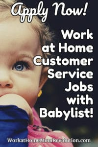 Home-Based Email and Phone Customer Service Jobs with Babylist