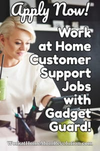 Work at Home Customer Support Jobs with Gadget Guard