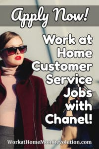 work at home customer service jobs with Chanel