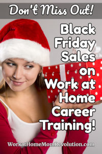 Black Friday Sales Work at Home Career Training