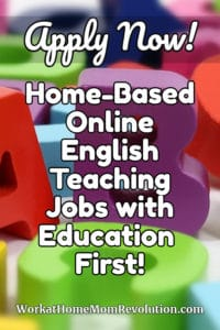 home-based teaching jobs with Education First