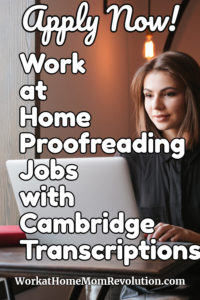 work at home proofreading jobs Cambridge Transcriptions