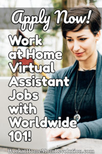 work at home virtual assistant jobs with Worldwide 101