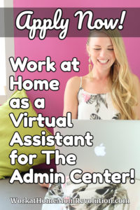 work at home virtual assistant job Admin Center