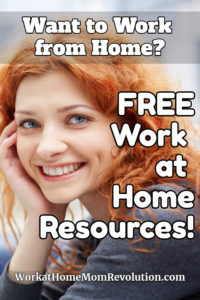 Free Work at Home Resources pin