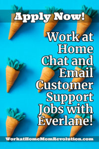 work at home chat and email customer support jobs with Everlane