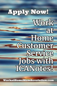 work at home customer service jobs with ICANotes