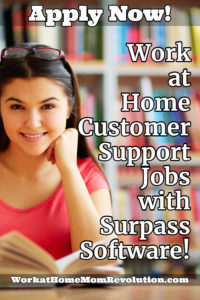 Home-Based Customer Support Rep Jobs with Surpass Software