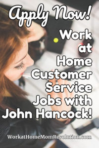 Work at Home Customer Service Jobs with John Hancock
