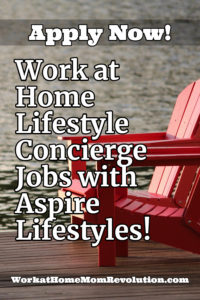 work at home lifestyle concierge jobs with Aspire Lifetstyles
