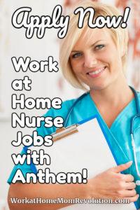 work at home nurse jobs with Anthem