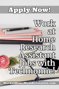 Work at Home Research Assistant Jobs with Technomic