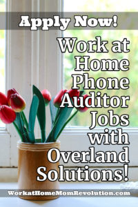 home-based phone auditor jobs Overland Solutions