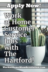 work at home customer service jobs with The Hartford
