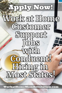 work at home customer support jobs with conduent