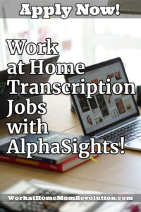 Work at Home Transcriptionist Jobs with AlphaSights