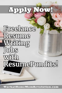 Freelance Resume Writing Jobs with ResumePundits