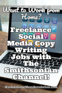 freelance social media writing jobs with The Smithsonian Channel