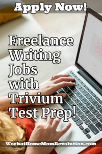 freelance writing jobs with trivium test prep