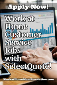work at home customer service jobs with SelectQuote