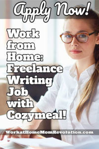 Freelance Writing Job with Cozymeal