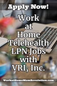 Work at Home Telehealth LPN Jobs with VRI, Inc.