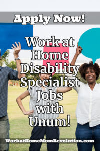 home-based disability specialist jobs with Unum