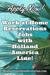 Home-Based Reservations Agent Jobs with Holland America Line