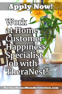work at home customer happiness specialist jobs with TheraNest