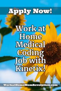 work at home medical coder job with Kinetix