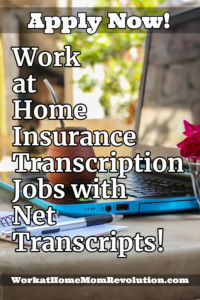work at home transcription job with Net Transcripts